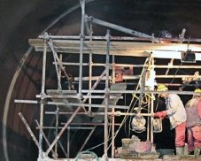 Rehabilitation of the left supply tunnel of power plant