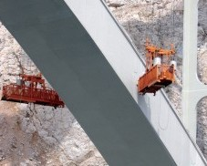 Rehabilitation of damaged reinforced concrete surfaces of small arch on the Bridge Krčki most