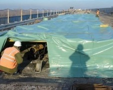 "Rehabilitation works on the ""Sava"" bridge near Ivanja Reka"